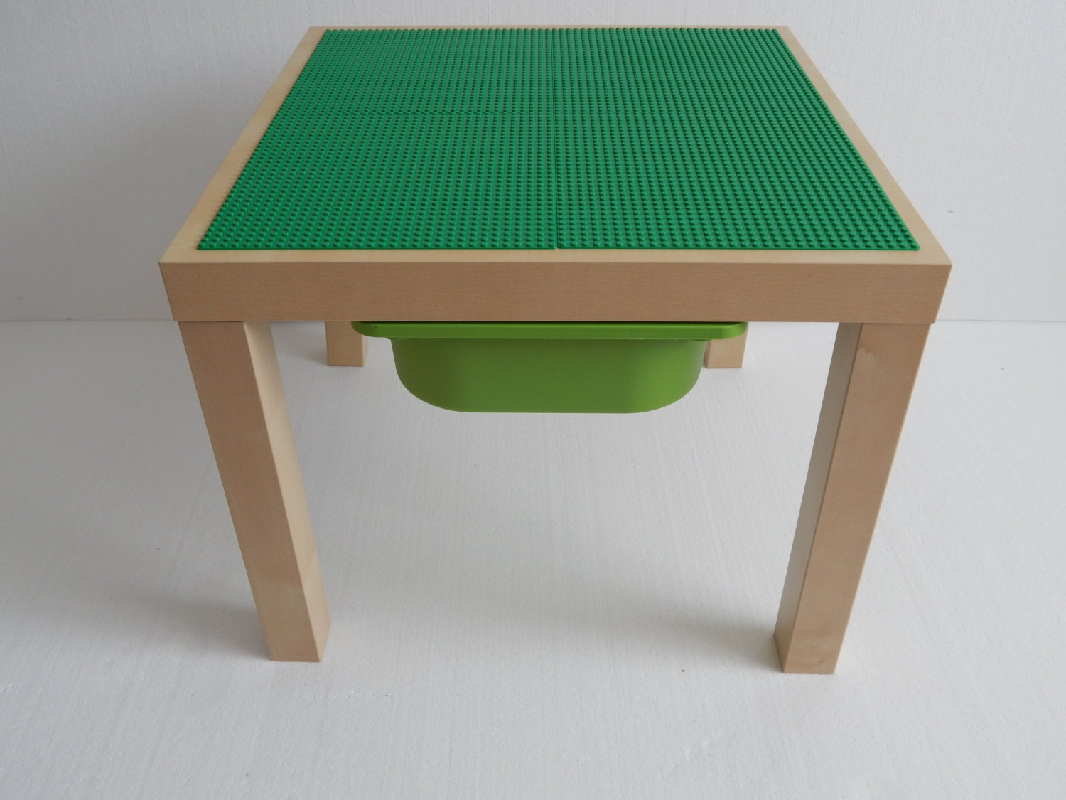 kids lego table with storage large 20x20 green. Black Bedroom Furniture Sets. Home Design Ideas