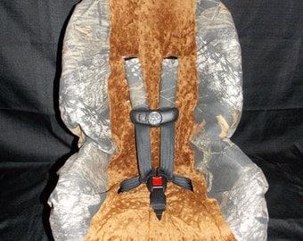 Camo with Caramel Toddler Car Seat Cover