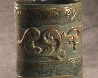 Slab Built Stoneware Vase