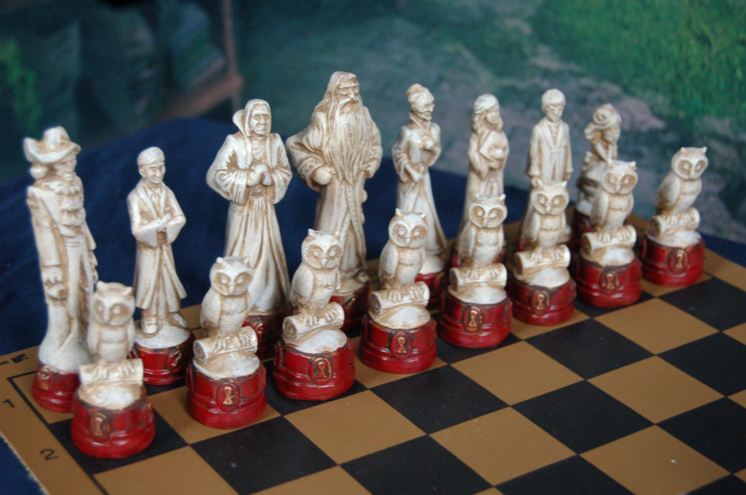 Harry Potter Chess Set Customisable Colours Pieces Only