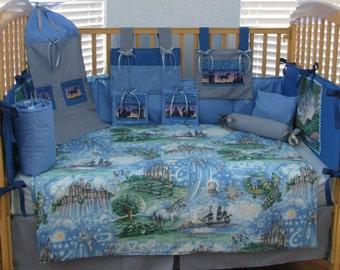 Fairy tale 12 Piece Baby Boy Bedding Crib Set