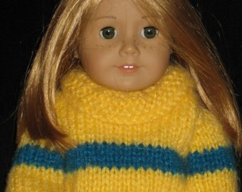 American Girl doll clothes, knit Ruffled Neck Sweater