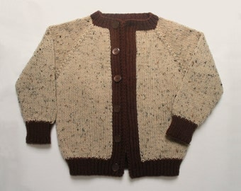 Tan and Brown Child's Sweater