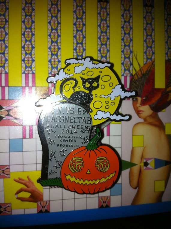 Items similar to BASSNECTAR halloween pin peoria 10/31/14 on Etsy