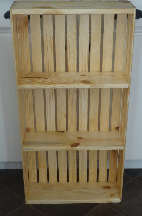 spice crate wall hanging shelf natural large by