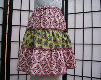 4T 3 Tier Skirt, Cotton Skirt