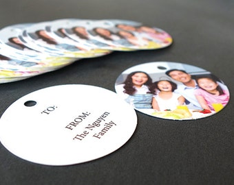 Photo Gift Tags (Round Tags)