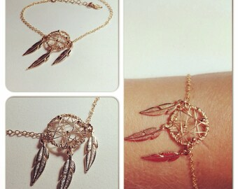 dream catcher bracelet | gold filled bracelet | wire wrapped bracelet