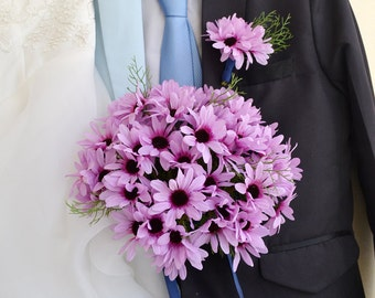 artificial flower wedding bouquets daisy natural style