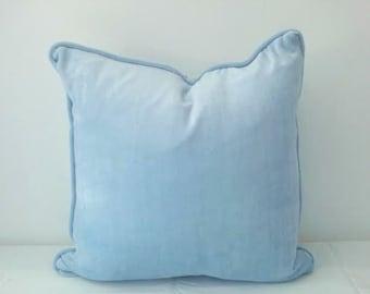 Blue Velvet Throw Pillow Cover,, Baby Blue Velvet Cushion Cover, FREE SHIPPING