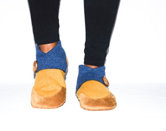 Women Cashmere Slippers, Wool House Slippers, Eco Friendly and Handmade in the USA.   Size:  USA Adults 6.5 -16