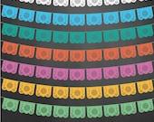 Papel Picado Flags Vector Illustrator Digital Download Dia de los Muertos, Wedding, Invitations, Mexican, Fiesta, Party Design