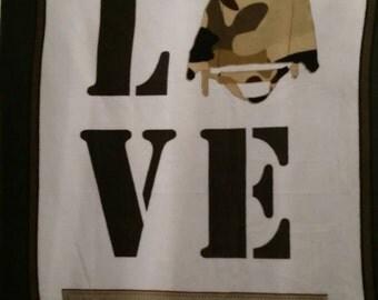 Love My Hero Double Layer Fleece Blanket