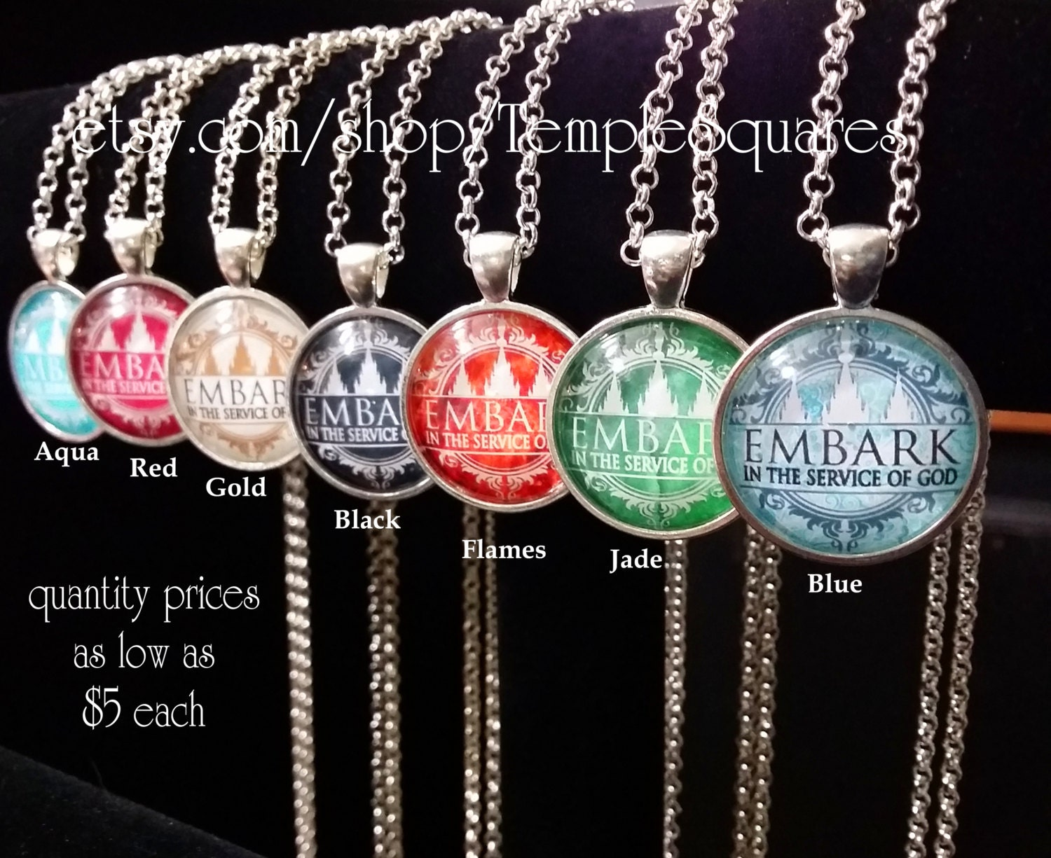 Best Christmas Gifts For Young Women Part - 50: Embark In The Service Of God - Pendant Necklace YW Young Women, Relief  Society, Or Missionary Gifts.