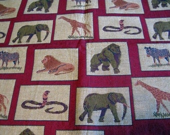 Elephant Tapestry Fabric Upholstery Fabric Designer Fabric, Animal Print Fabrics Upholstery Vintage Pillow Fabric