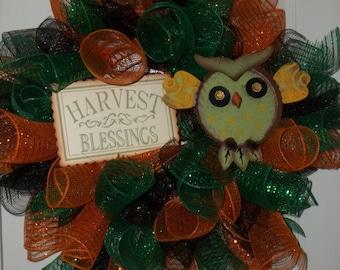Harvest Blessings Wreath