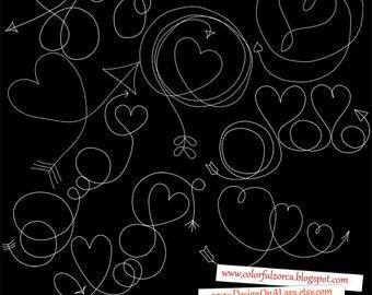 Hearts Arrows Swirls, Hearts Arrows Overlays, Doodle Arrows, Arrow Hearts Clip Art, Arrow Hearts Designs, Digital Arrows, Hand Drawn Arrows