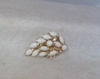 White Wedding Brooch