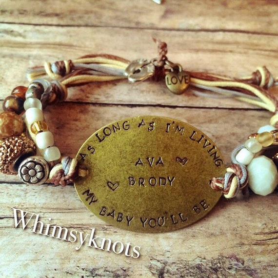 as long as im living my baby youll by whimsyknots on etsy