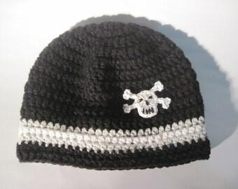 Mens Skull hat, Adult Winter Skull Hat, Mens hat, Boys hat, Skull and Crossbones Hat, Skull Hat, Pirate, Crochet Skull Hats, Photo Prop,