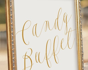 ELEGANT Printable Candy Buffet Sign - Instant download Wedding Reception Sign