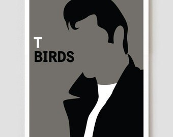 """TBirds Grease Art Print / Poster - 11"""" x 17"""""""