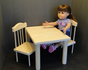Table & Chair Set for 18 inch/A.G. Dolls (0135)