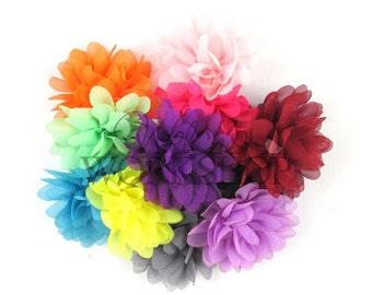 Petite Chiffon Puff Flower Grab Bag - You Choose Quantity