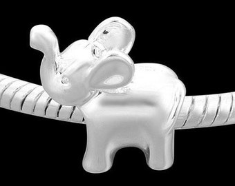 Elephant, European Charm Bead For All Large Hole Charm Bracelet And Necklace Chain. Spring Collection