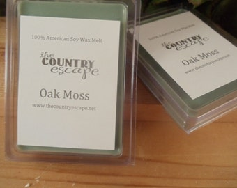 Oak Moss Scented 100% Soy Wax Melt -Earthy Woodland Aroma- Maximum Scented
