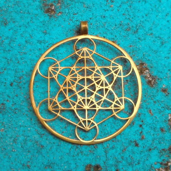 Metatron 39 s cube pendant 1 3 4 stainless steel by floweroflife9 for Metatron s cube jewelry