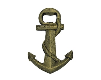 """5"""" Cast Iron Anchor Bottle Opener / Available in Different Colors"""