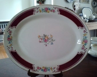 Antique Homer Laughlin Platter F47 N6 Made in USA