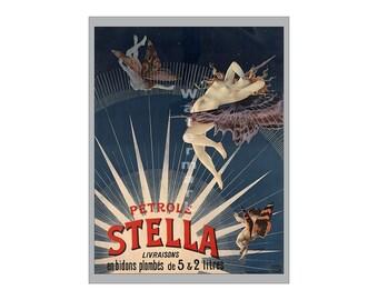Petrole Stella - Vintage 19th Century Art Nouveau Poster/Print