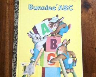 Bunnies' ABC Vintage Little Golden Book