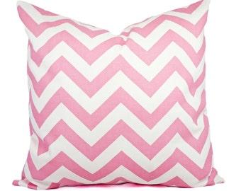 Two Baby Pink Pillow Covers - Chevron Pillows - Baby Pink Pillow Cover - Pink Pillow - Pink Pillowcase - Pink Nursery Decor - Pillow Sham