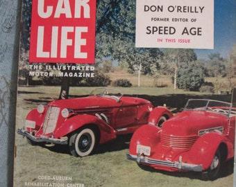 Vintage February 1954 Edition Car Life - The Illustrated Motor Magazine