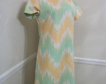 Vintage 1970's Kenny Classics Polyester Dress - Misses Size 10