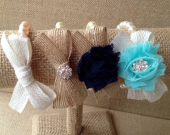 Custom pearl, ribbon and shabby chic flower bracelet, build your own bracelet, bridesmaid gift, bridal jewelry, flower girl gift
