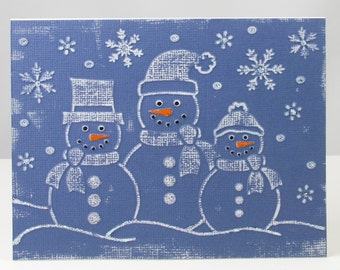 Snowmen and Snowflakes Christmas Card