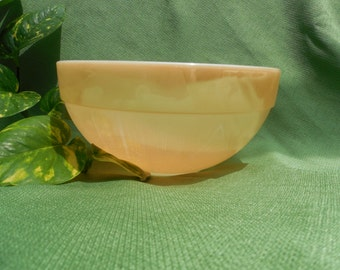 Fire King Peach Lustre 8 1/2 inch mixing bowl
