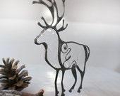 Deer Ornamet, Clear Reindeer, Crystal Christmas decor, Winter Deer, Winter Decor, Stain Glass Deer