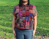Asian Inspired SIlk Patchwork Blouse