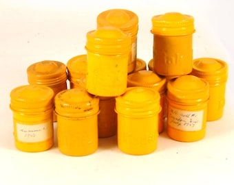 Vintage Yellow Kodak Metal Film Canisters With Yellow Screw Tops for Collecting or Geocaching (FC 110)