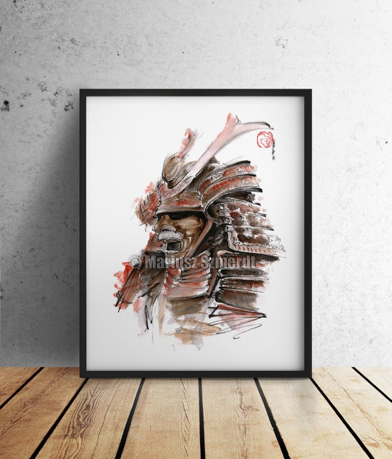 Armure samoura masque guerrier japonais dessin japon style for Modern drawing styles
