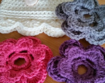 Baby/Chid Hat with 3 Interchangeable Flower Set