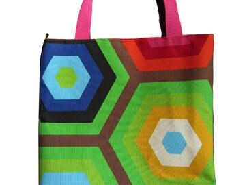 Flower bag Geometric Colors