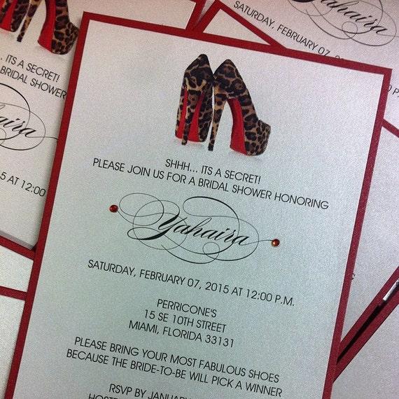 Shoe invitation leopard shoe invitation birthday invitation sweet 16 il570xn filmwisefo
