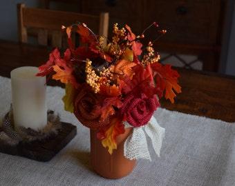 Fall or Thanksgiving flower arrangement