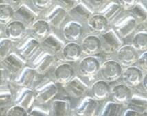 11/0 Delica Miyuki Glass Beads - 7 grams    Crystal Luster DB 50
